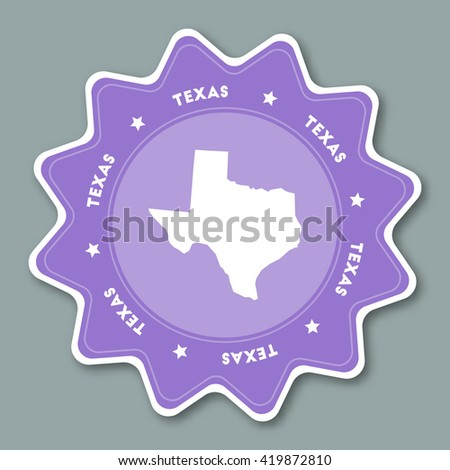 Usa Presidential Election Vote Sticker Stock Vector - Us map texas vector