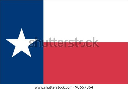 Texas State Flag - stock vector