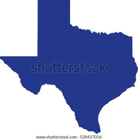 Texas State Map Stock Vector Shutterstock - Texas mapa