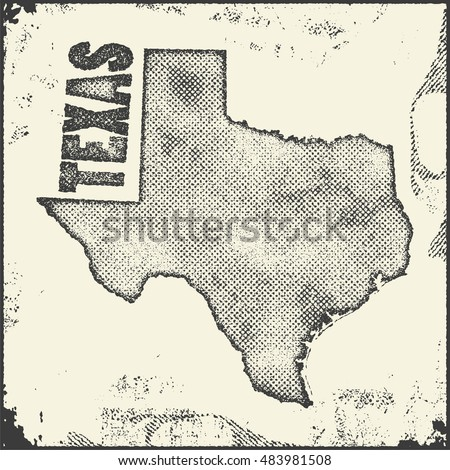 Texas Map Stock Images RoyaltyFree Images Vectors Shutterstock - Us map texas vector
