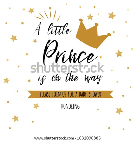 Text Little Prince On Way Gold Stock Vector 1032090883 Shutterstock