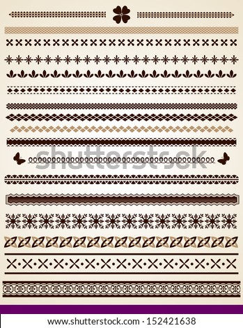 Text and page borders, jpg file also available - stock vector