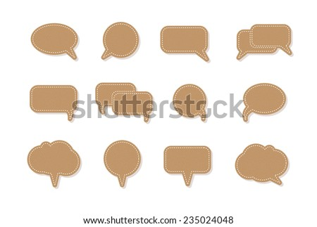 text balloon Vector speech bubble icons - stock vector