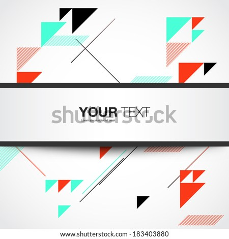 Text box design with detailed shadow and abstract background eps10 - stock vector