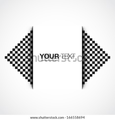 Text box design with pixel pattern background Eps 10 vector illustration - stock vector