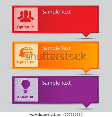 text box for website info graphic and business, numbers, icon.  - stock vector