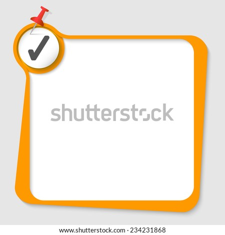 text box with magnifier and check box - stock vector