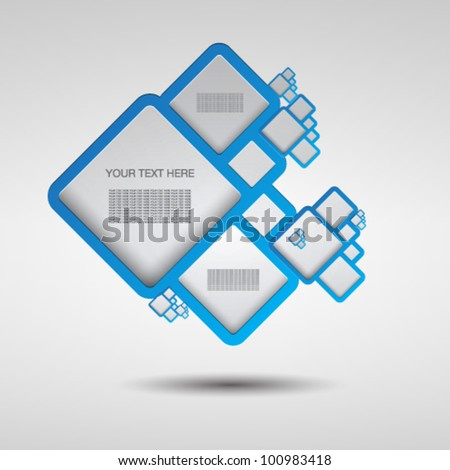 Text boxes - stock vector