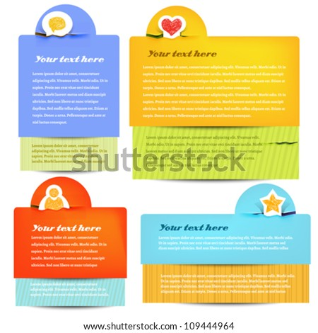 text boxes - stock vector