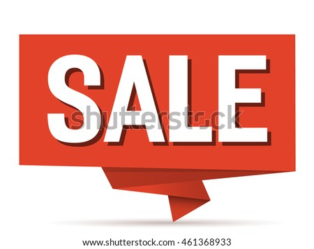 Text bubble with word sale