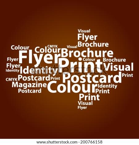 Text cloud. Design word cloud. Tag concept. Vector illustration. - stock vector