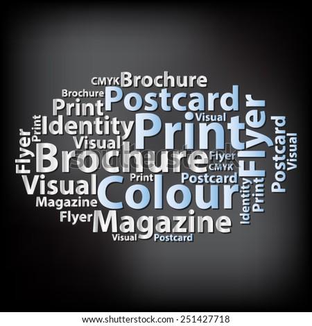 Text cloud. Design wordcloud. Tag concept. Vector illustration. - stock vector