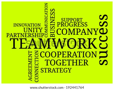 "Text cloud ""Teamwork"""
