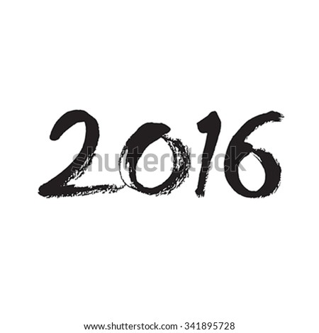 Text design of happy new year 2016 - stock vector