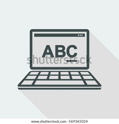 Programming Software Vector Flat Minimal Icon Stock Vector