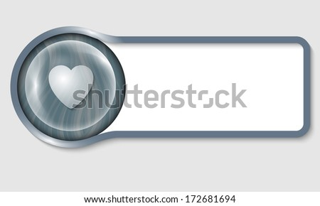 text frame for any text and transparent heart - stock vector