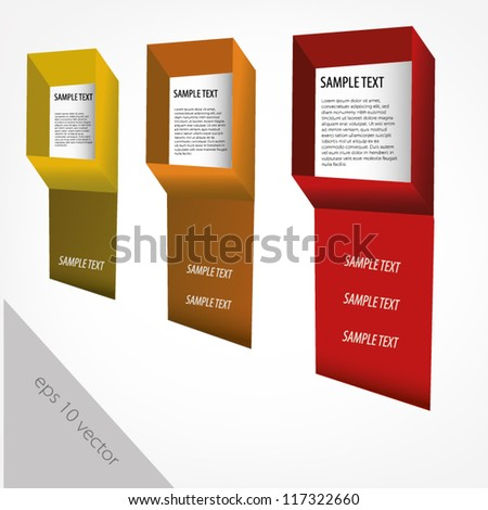 text frame idea - stock vector