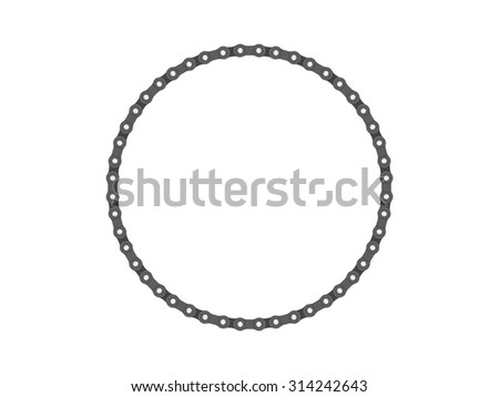 Text Frame Photo Frame Bicycle Chain Stock Vector 314242643 ...