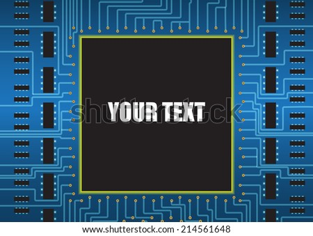 Text on Circuit Board Background Concept. Vector Illustration. - stock vector