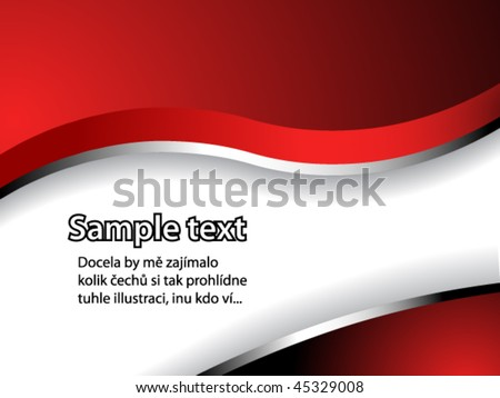 text pattern with red and silver gradient and shadow - stock vector