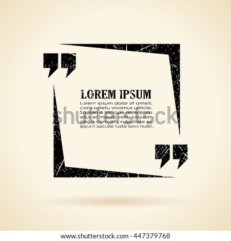 Text quote frame vector illustration isolated on sepia background - stock vector