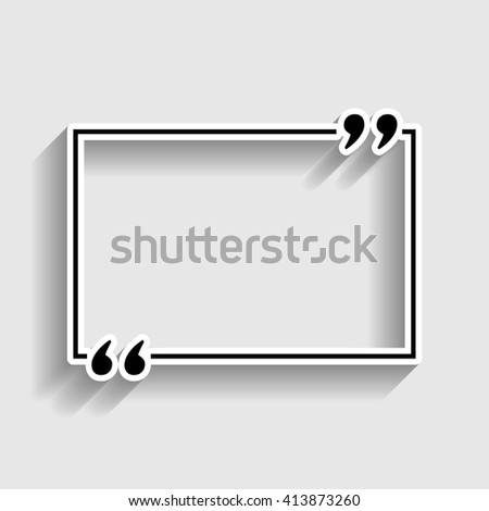 Text quote sign - stock vector
