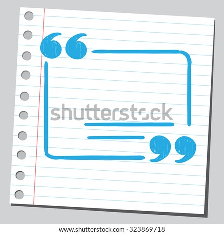 Text space in speech quotes - stock vector