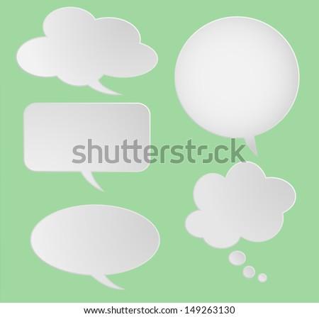 Text/speech paper Balloons. Vector Illustration. - stock vector