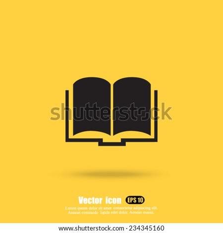 textbook vector icon - stock vector