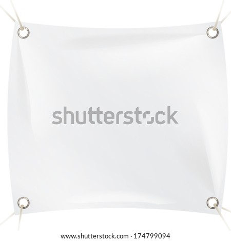 textile banner - stock vector