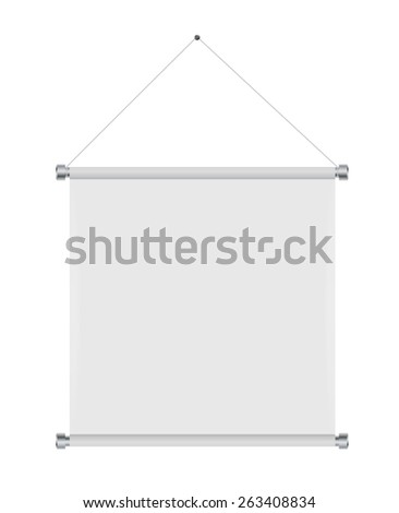 Textile Banners with Copy Space. Vector Illustration. EPS10 - stock vector