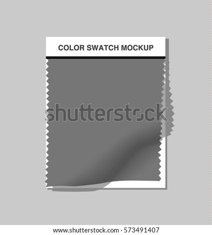 Textile color swatch mockup.