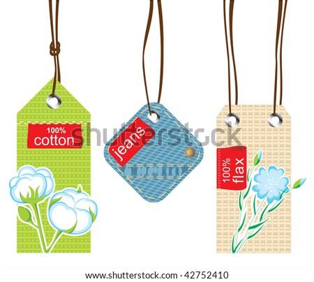 textile labels - stock vector