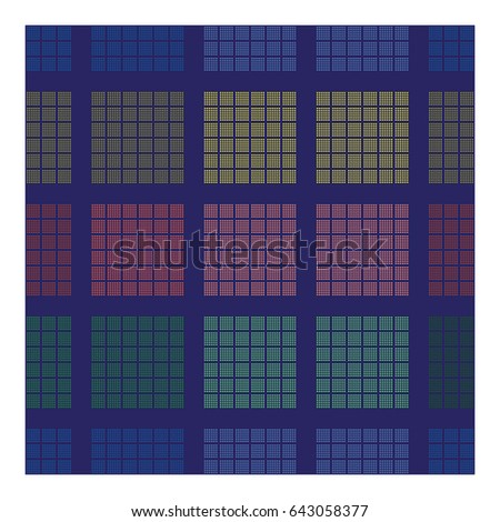 Textile pattern with geometric elements. Modern  abstract design poster, cover, card design.