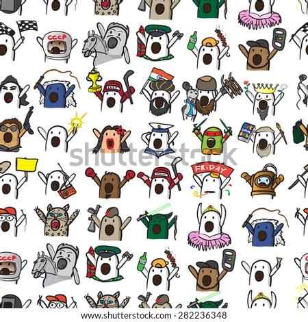 stock vector textile seamless pattern of internet memes nichosi 282236348 internet meme stock images, royalty free images & vectors