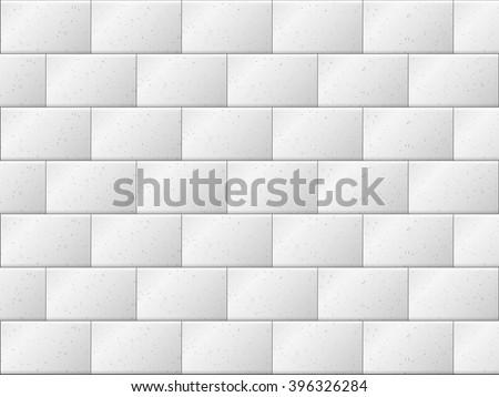 Texture background of grey granite stone block wall. - stock vector