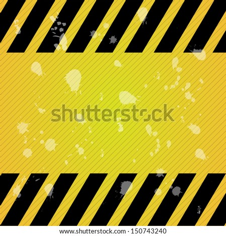 Texture Hazard Warning Background. High quality vector illustration. Eps10.