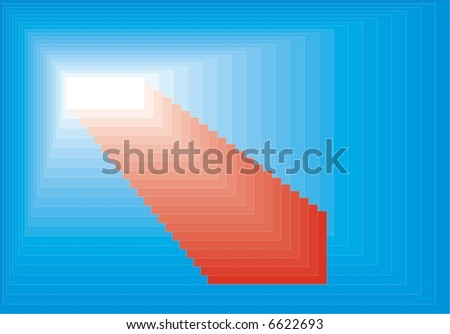 Texture in blue, red and white colour - stock vector
