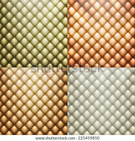 Texture leather set - upholstery sofa. EPS 10 vector file included - stock vector