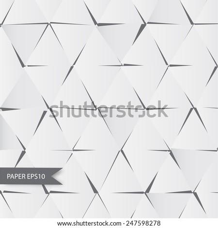 Texture of crumpled paper - stock vector