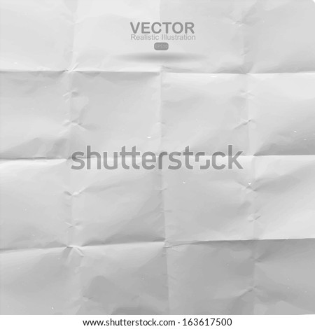 Texture of crumpled paper background - stock vector