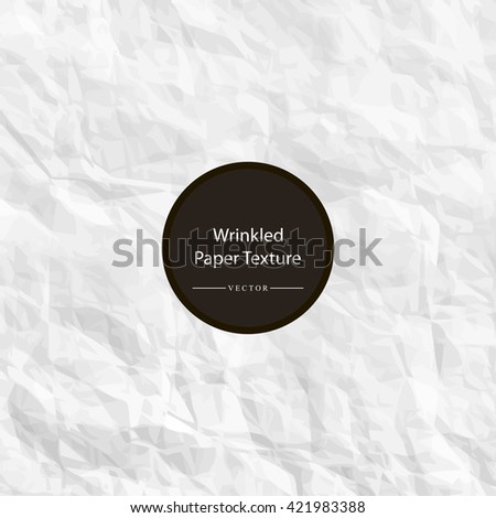 Texture of crumpled white paper vector illustration - stock vector