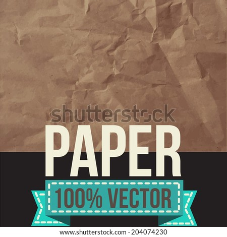 Texture of old crumpled paper.  Vector illustration. - stock vector