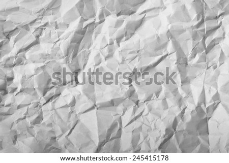 Texture of white crumpled paper full frame - stock vector