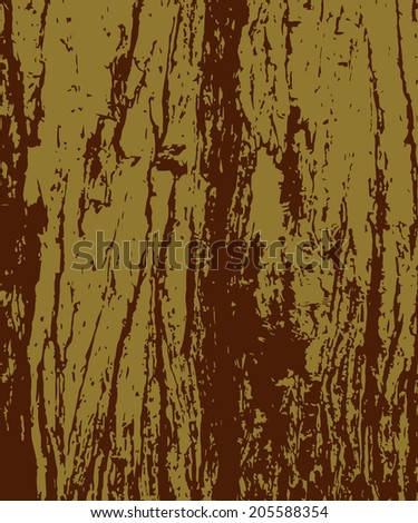 Texture of wooden bark in vector format. Abstract background.  - stock vector