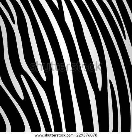texture of zebra style fabric - stock vector