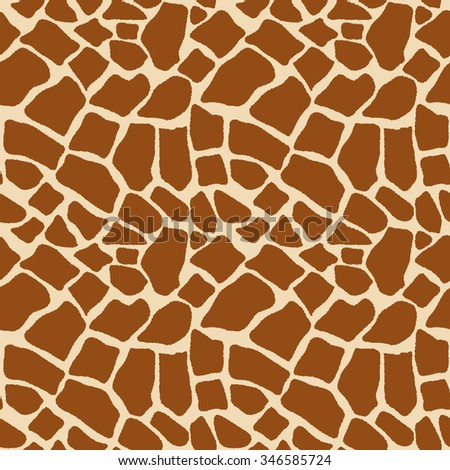 Texture print coloring skins giraffe seamless pattern - vector illustration. Animal background, tribal ornament - stock vector
