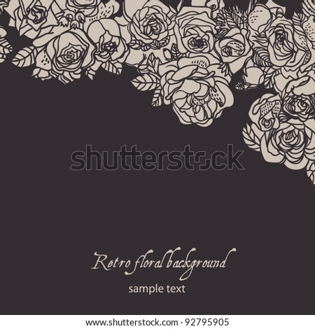 Texture with flowers.  Background with flowers - stock vector