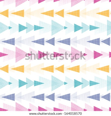 Textured arrows stripes seamless pattern background - stock vector