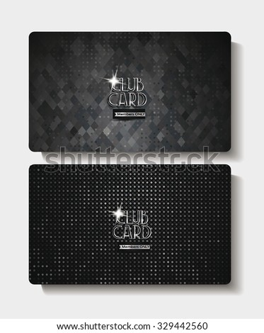 Textured black club cards - stock vector
